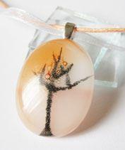 Őszi fa üvegmedál