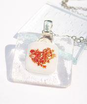Szeretet üvegmedál