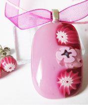 Rózsaszín millefiori szett