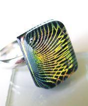 Zöld hálós dichro gyűrű