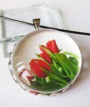 Tulipáncsokor medál