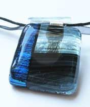 Fátyolvidék kézműves üvegmedál