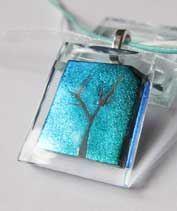 Zöldündér fája üvegmedál