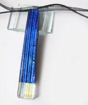 Kék kristályjégcsap medál