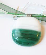 Türkiz hullámok üvegmedál