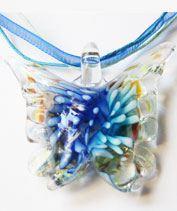 Kék muránói pillangó medál