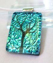 Szikraeső életfa üvegmedál
