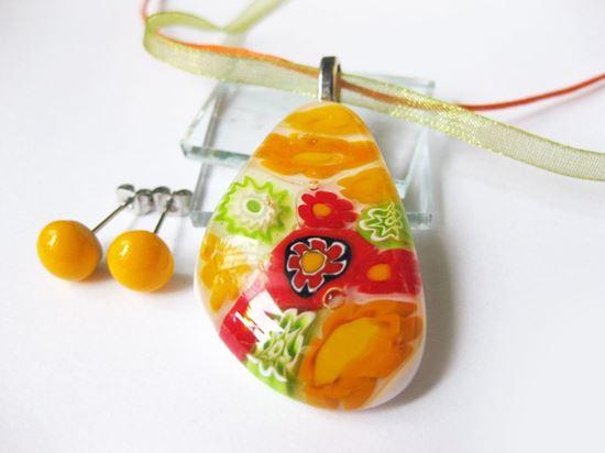 Narancssárga millefiori szett