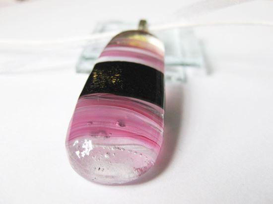 Rózsaszín horizont üvegékszer medál