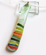 Zöld cukorka üvegmedál
