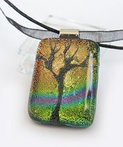 Szivárványtündér fája üvegmedál