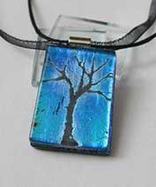 Éjjeli tündér fája üvegmedál