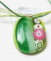 zöld millefiori