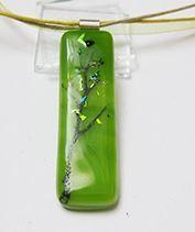 Zöldág üvegékszer medál