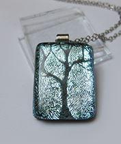Téltündér fája üvegmedál