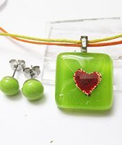 Zöld szívecskés