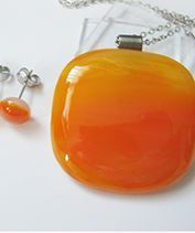 Narancs ékszerszett
