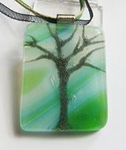 Természet fája üvegmedál