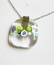 Millefiori buborék medál